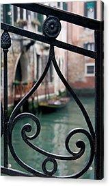 Italy, Venice Stair Railing Metalwork Acrylic Print