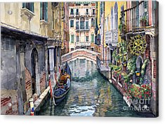 Italy Venice Trattoria Sempione Acrylic Print by Yuriy Shevchuk