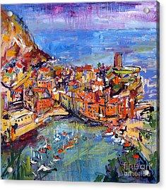 Italy Vernazza Cinque Terre Acrylic Print