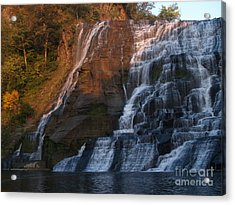 Ithaca Falls  --  Late Afternoon Acrylic Print by Anna Lisa Yoder