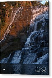 Ithaca Falls In Autumn Acrylic Print by Anna Lisa Yoder