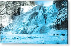 Ithaca Falls In Winter Acrylic Print