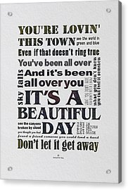 It's A Beautiful Day Typography Acrylic Print