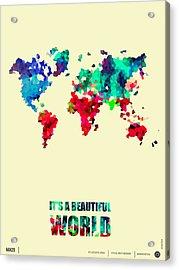 It's A Beautifull World Poster 2 Acrylic Print