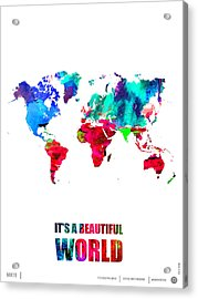 It's A Beautifull World Poster Acrylic Print by Naxart Studio