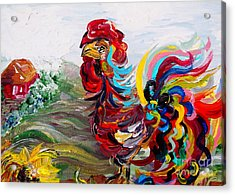 It's A Cockadoodle Do Morning Acrylic Print by Eloise Schneider