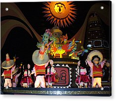 It's A Small World With Dancing Mexican Character Acrylic Print