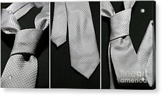 Acrylic Print featuring the photograph It's A Tie - Triptych by Trish Mistric