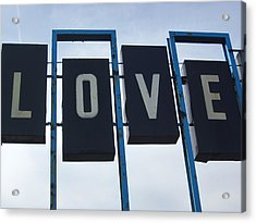 It's All You Need Acrylic Print by Guy Ricketts