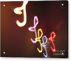 Acrylic Print featuring the photograph It's I... I... And More Of I. Dancing Lights Series by Ausra Huntington nee Paulauskaite