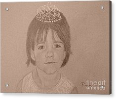 Acrylic Print featuring the drawing It's Not Easy Being Queen by Mary Lynne Powers