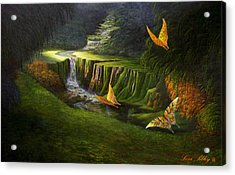 Acrylic Print featuring the painting Peaceful by Loxi Sibley
