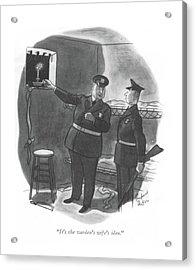 It's The Warden's Wife's Idea Acrylic Print by Richard Decker