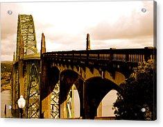 It's Water Under The Bridge 2  Acrylic Print by Sheldon Blackwell