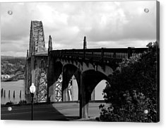 It's Water Under The Bridge  Acrylic Print by Sheldon Blackwell