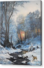 It's Winter Acrylic Print