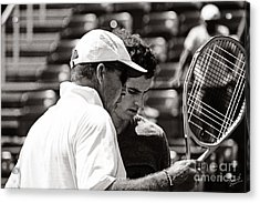 Ivan Lendl And Andy Murray  Acrylic Print by Nishanth Gopinathan