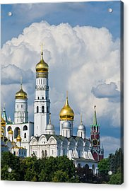 Ivan The Great Bell Tower Of Moscow Kremlin - Featured 3 Acrylic Print by Alexander Senin