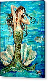 Ivana Acrylic Print by Linda Olsen