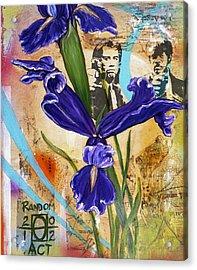 I've Got A Friend Named Iris Acrylic Print by Andrea LaHue aka Random Act