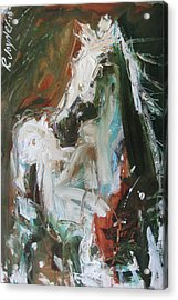 Acrylic Print featuring the painting Ivory by Robert Joyner