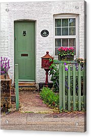 Ivy Cottage Welcome Acrylic Print by Gill Billington