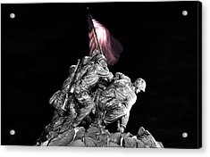 Acrylic Print featuring the photograph Iwo Jima Memorial by Michael Donahue