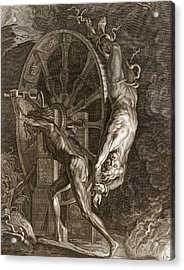 Ixion In Tartarus On The Wheel, 1731 Acrylic Print by Bernard Picart