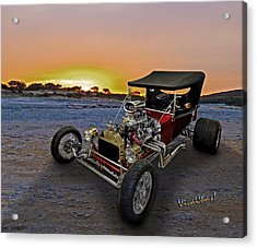 J B T Bucket Sunset Acrylic Print