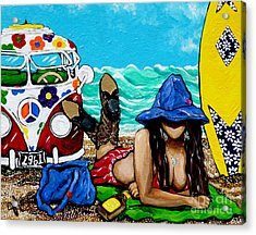 Acrylic Print featuring the painting J. C. Beaching It In 1961 by Jackie Carpenter