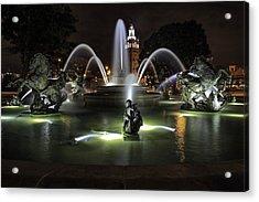 J C Nichols Fountain Acrylic Print