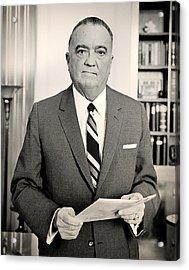 J Edgar Hoover 1961 Acrylic Print