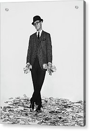 J. Kittlewood Thaxter IIi Standing On A Pile Acrylic Print by Chadwick Hall