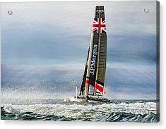 America's Cup - J. P. Morgan Ben Ainslie Racing Bar Ac45 Catamaran Acrylic Print