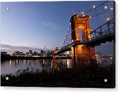Ja Roebling Bridge Acrylic Print by Chris Babcock