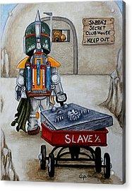Jabba's Gift Acrylic Print by Al  Molina