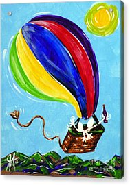 Acrylic Print featuring the painting Jack And Charlie Fly Away by Jackie Carpenter