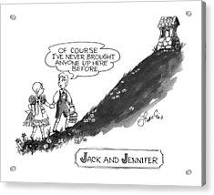 Jack And Jennifer Acrylic Print