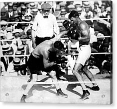 Jack Dempsey Fights Tommy Gibbons Acrylic Print by Everett