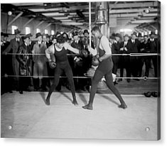 Jack Dempsey Sparring Acrylic Print by Underwood Archives