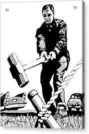 Jack Hammer Acrylic Print