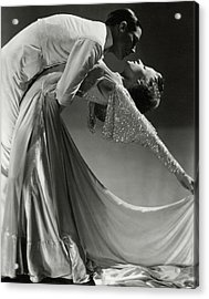 Jack Holland And June Hart Dancing Acrylic Print by Horst P. Horst