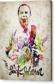 Jack Johnson Portrait Acrylic Print