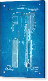 Jack Johnson Wrench Patent Art 1922 Blueprint Acrylic Print by Ian Monk