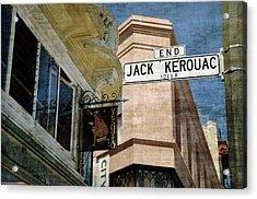 Jack Kerouac Alley And Vesuvio Pub Acrylic Print