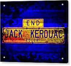 Acrylic Print featuring the mixed media Jack Kerouac Alley by Michelle Dallocchio