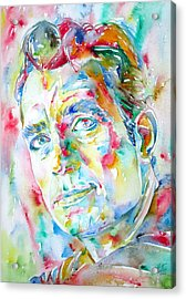 Jack Kerouac Portrait.1 Acrylic Print by Fabrizio Cassetta