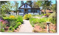 Jack London Countryside Cottage And Garden 5d24565 Long Acrylic Print by Wingsdomain Art and Photography