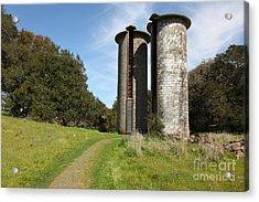 Jack London Ranch Silos 5d22162 Acrylic Print by Wingsdomain Art and Photography