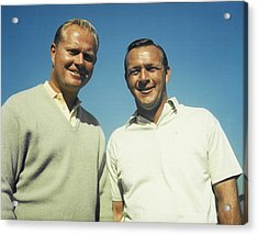 Jack Nicklaus And Arnold Palmer Acrylic Print by Retro Images Archive